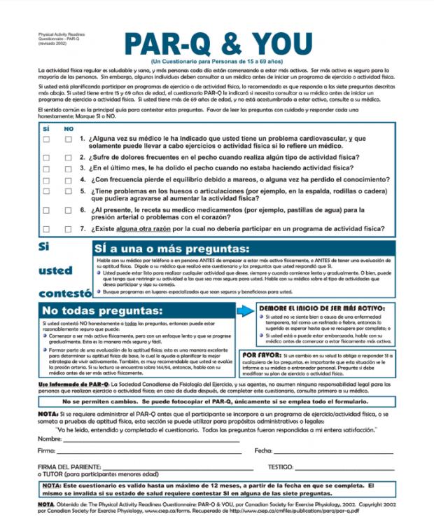 PAR-Q & YOU